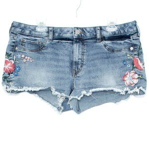 Express Shorts Jean Embroidered Relaxed Low 12 CR